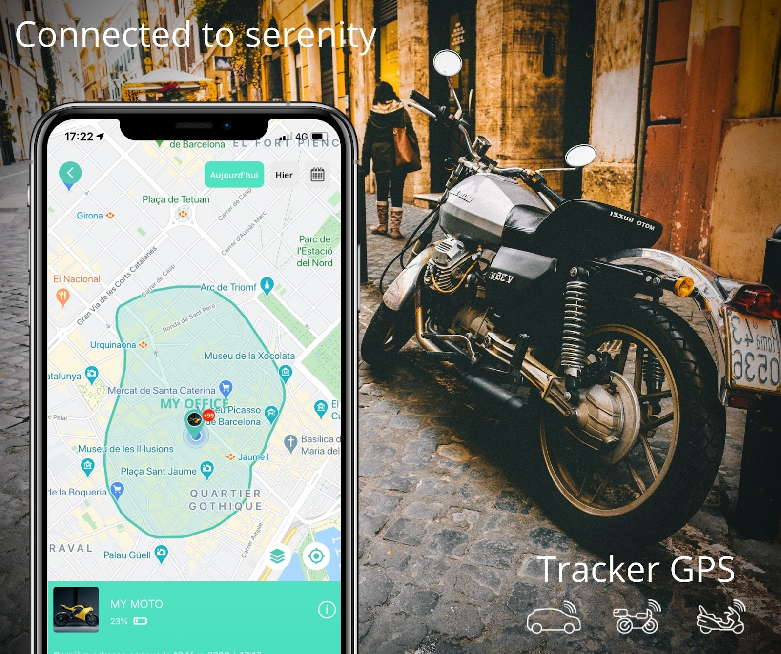 Tracker GPS pour Moto