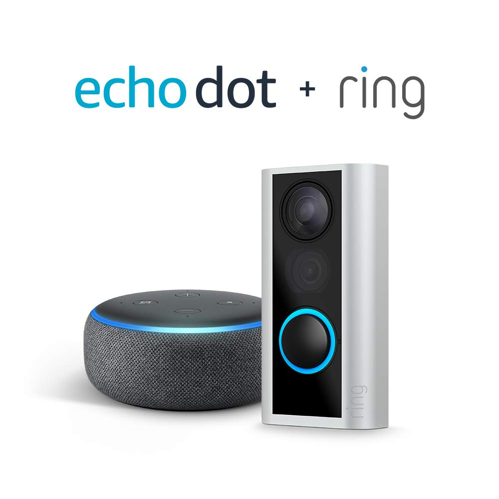 Amazon Echo Dot and Ring Peephole Camera