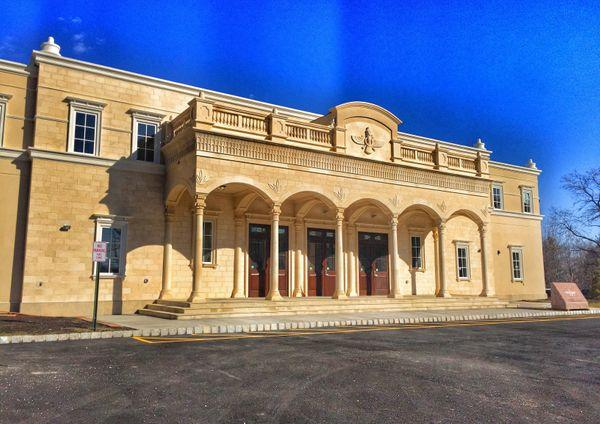 The new Arbab Rustam Guiv Dar-e-Mehr building is a Zoroastrian religious and cultural community center in Pomona, New York, a