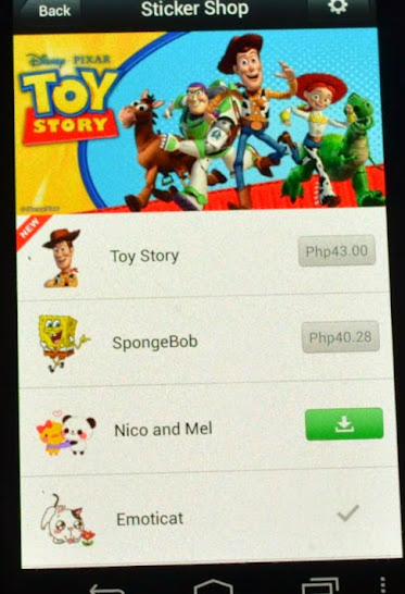 WeChat Sticker shop - Toy Story, Mickey Mouse, Spongebob, Garfield