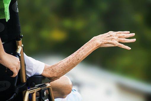 Hospice, Wrinkled Hand, Elderly, Old