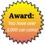 Award for 3,000 cat-coins