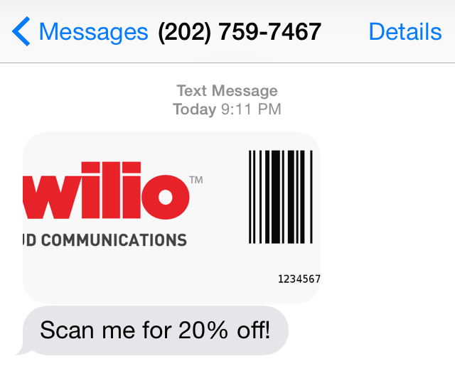 Branded MMS Coupon Generation with Python and Twilio - Twilio