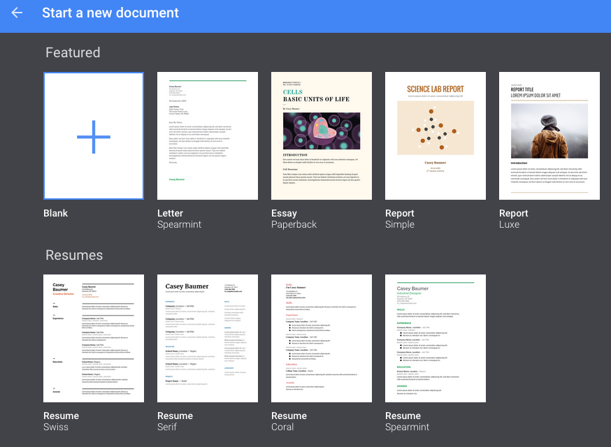 Use Template Gallery to format your Google Docs – Office of
