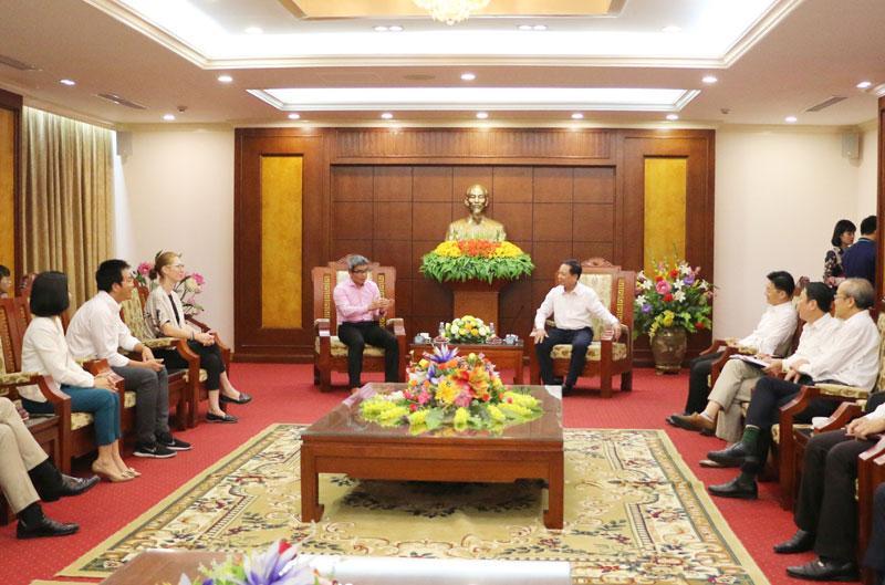 Bí thư Tỉnh ủy làm việc với Tập đoàn lữ hành và khách sạn Thiên Minh