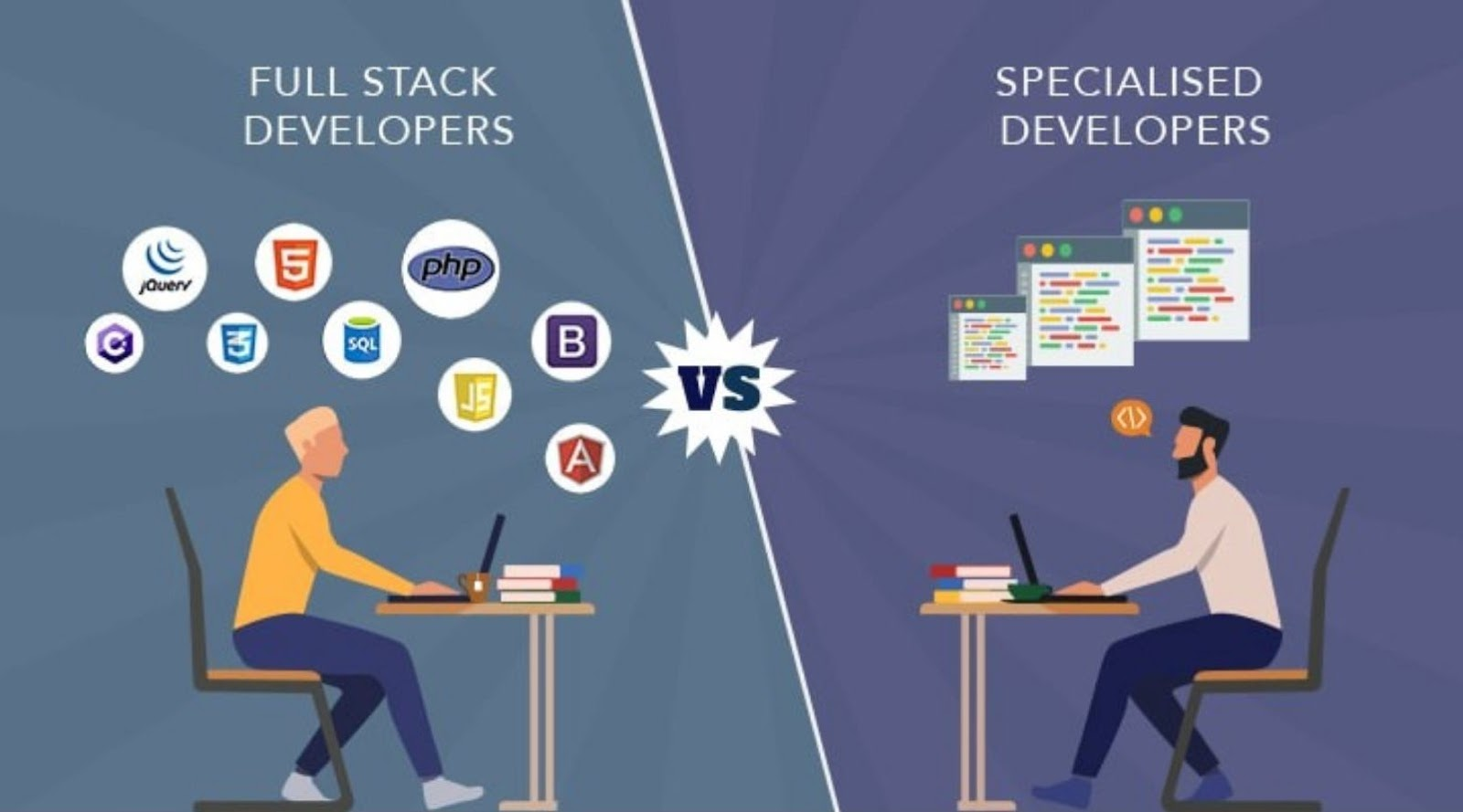 full stack developer vs specialised developer