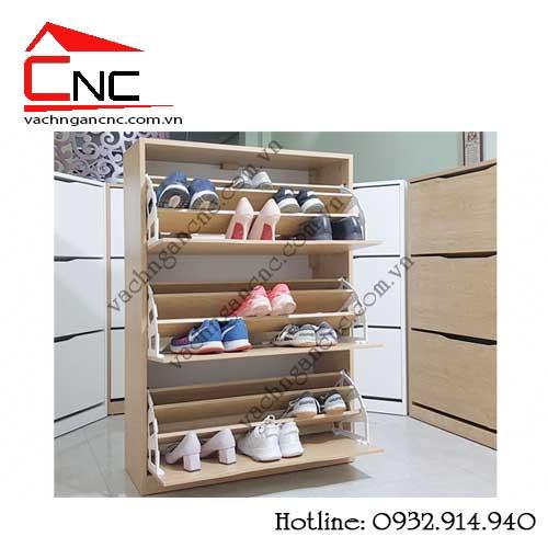 Thiết kế tủ giày thông minh bằng gỗ công nghiệp giá rẻ
