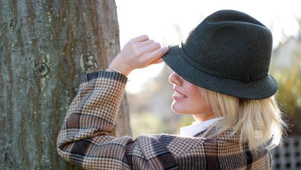 chapeau homme en laine feutrée vintage