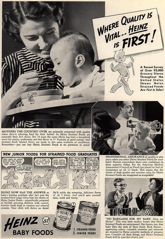 Mm Ketchup-yâ\u0080¦Vintage Heinz Baby Food Advertisements â\u0080\u0093 ardnasselas
