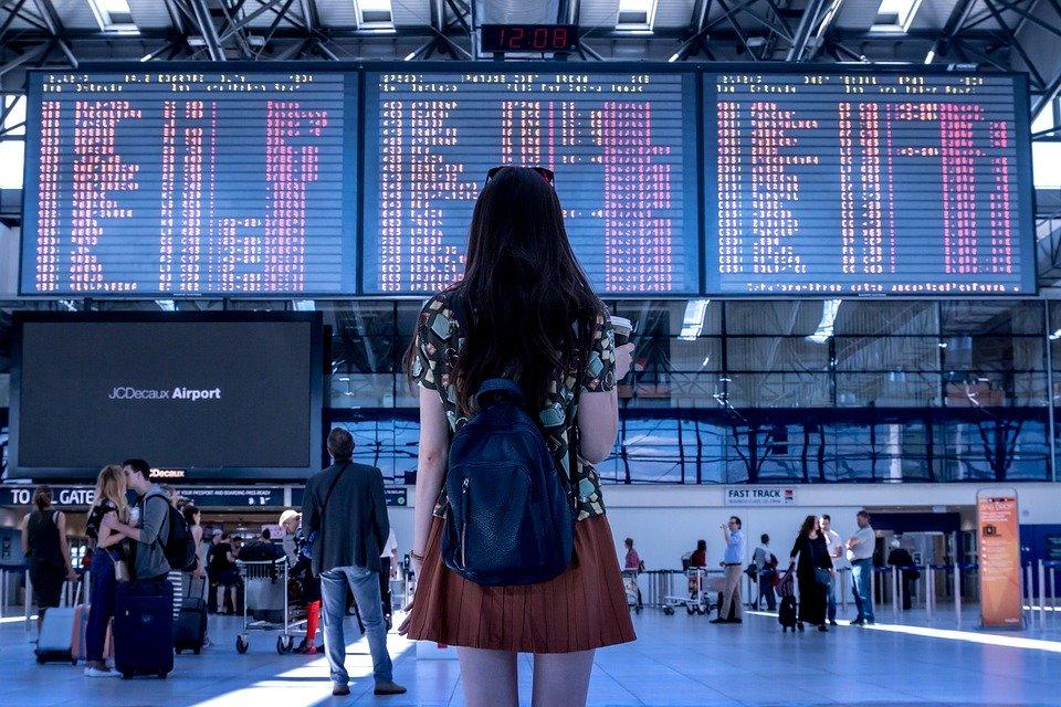 空港, トランスポート, 女性, 女の子, 観光, 旅行, フライト, 人, 交通, 出発, 到着, 飛行機