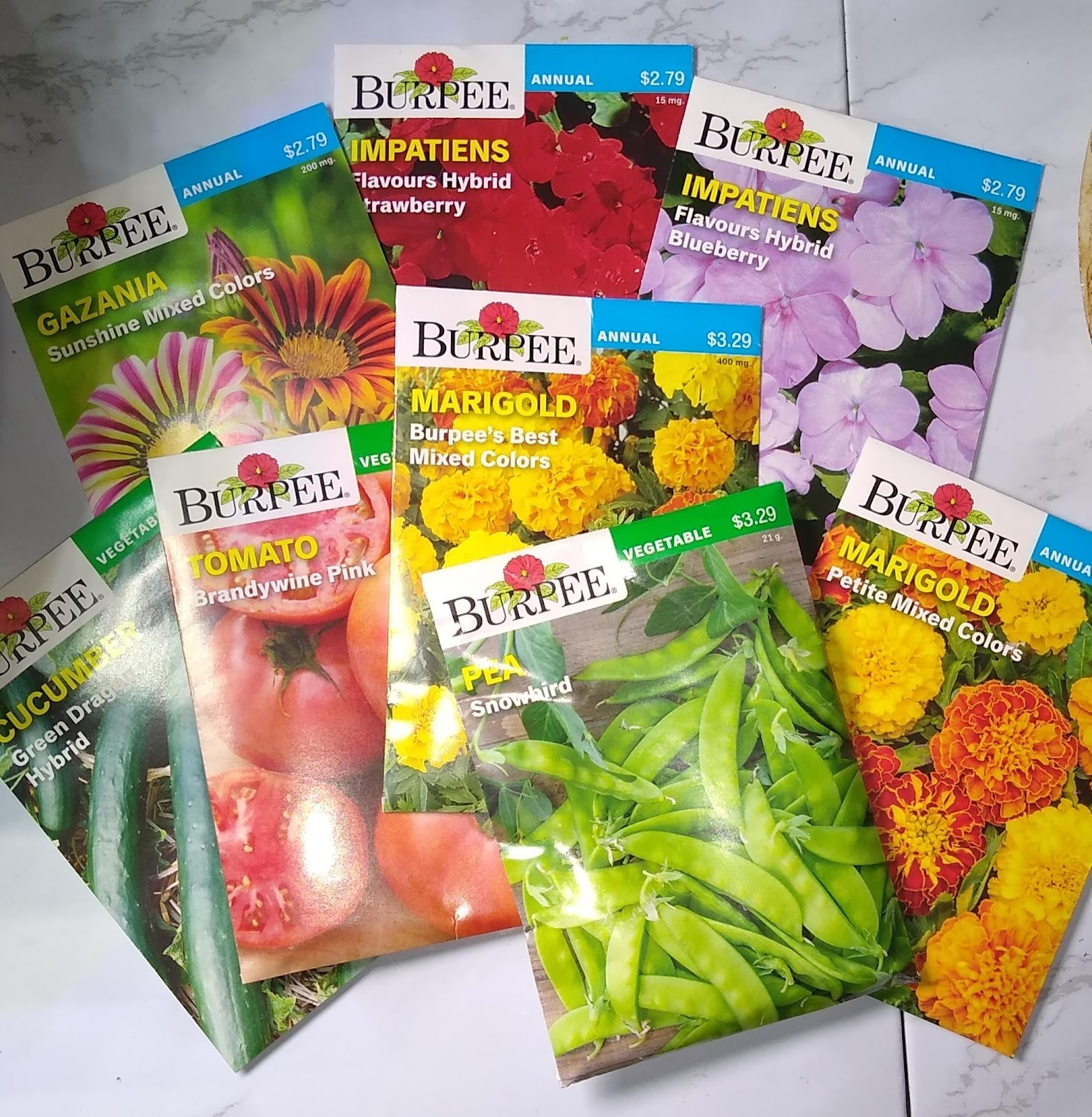 flower and vegetable seeds picture