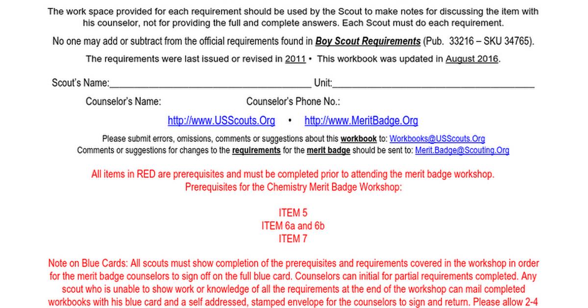 Chemistry Merit Badge Mosi 2016 2017 Google Docs