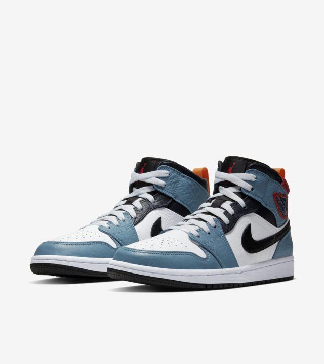 """Air Jordan 1 Mid Fearless FACETASM"" รองเท้า Jordan 1 ที่มีความแตกต่าง 05"