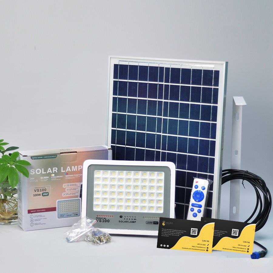 mẫu đèn năng lượng mặt trời 100W giá rẻ