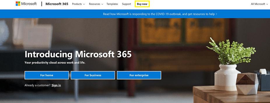Trang web Microsoft 365 - một nơi tuyệt vời khác để tạo địa chỉ email doanh nghiệp