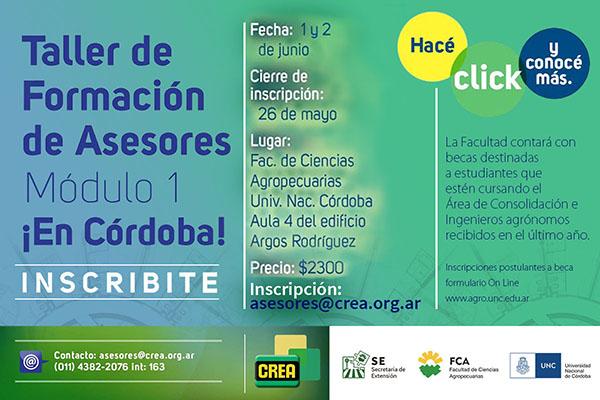 Taller de Formación de Asesores: Módulo 1 (Córdoba)