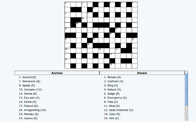 olg crossword how to play