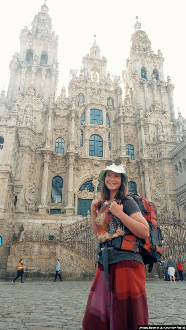 Фінальний пункт. Головний костел міста Сантьяго-де-Компостела, у якому лежать мощі святого Якова
