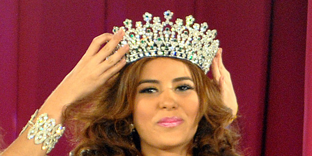 Maria Jose Alvarado is crowned the new Miss Honduras in San Pedro, Sula, Honduras. Alvarado. Photo / AP