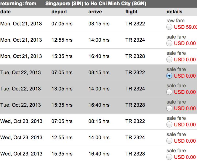 vé máy bay giá rẻ 0 usd tiger airways - Tiger bán vé siêu rẻ 0 USD
