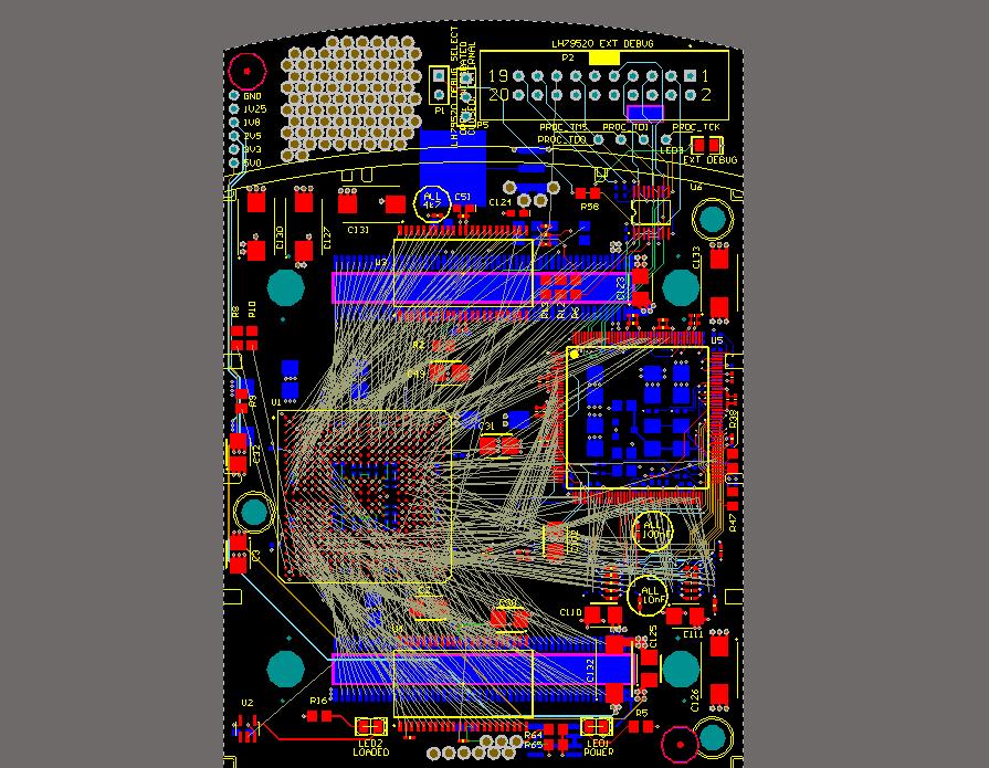 Proceso de enrutamiento de PCB con muchas conexiones cruzadas