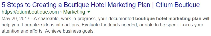 title tag for seo hotel