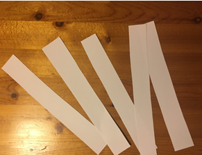 5 strips of paper