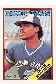 Amazon.com: 1988 O-Pee-Chee Baseball #140 Jesse Barfield Toronto ...