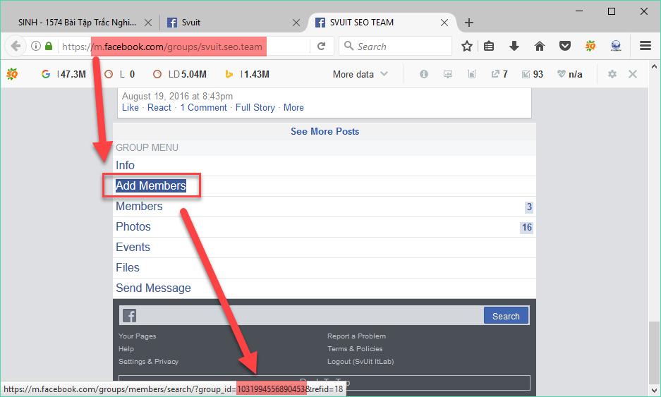 Facebook - Hướng dẫn lấy UID Page Group User và Post facebook