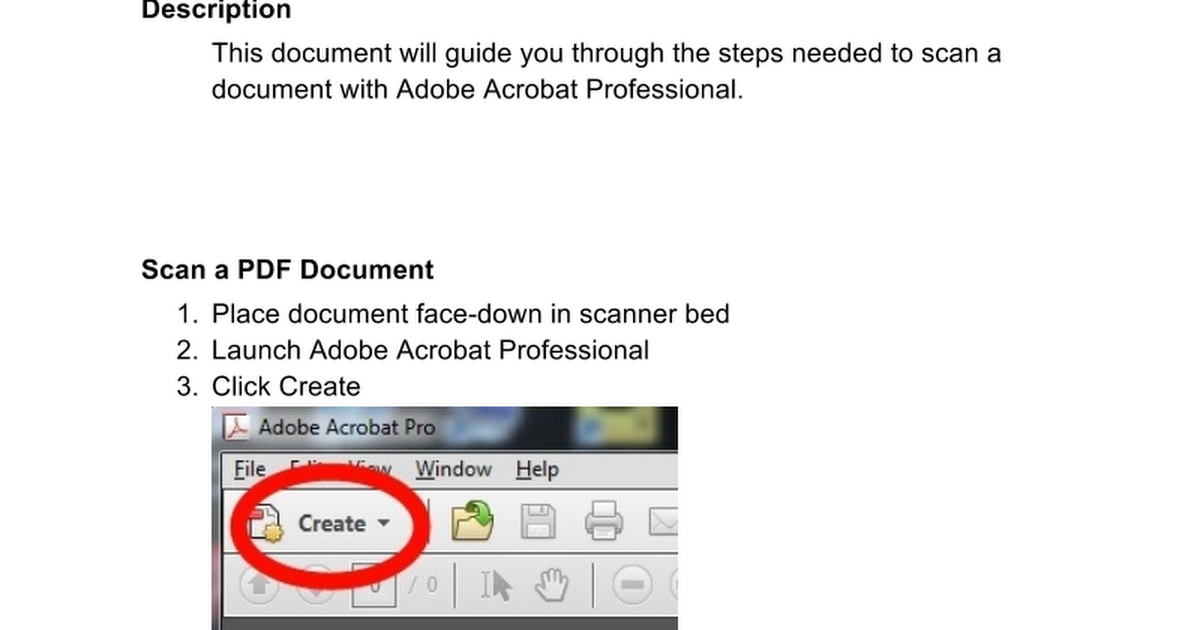how to scan a document to pdf adobe 9