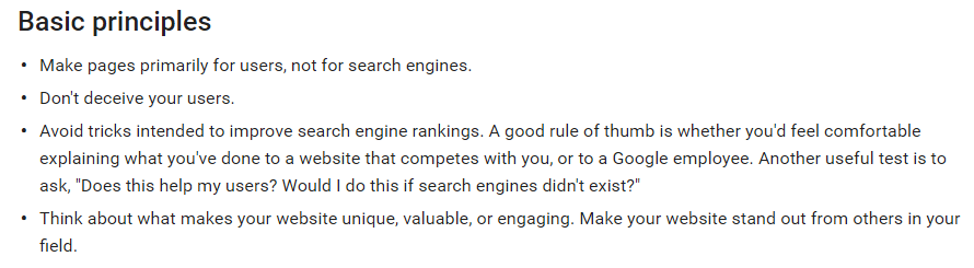 Technical SEO advice for webmasterds