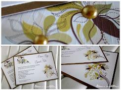 floral pearl wedding invitation