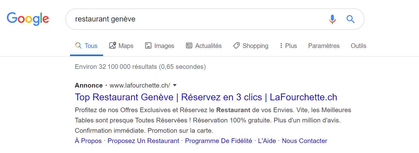 Résultat de Recherche Google