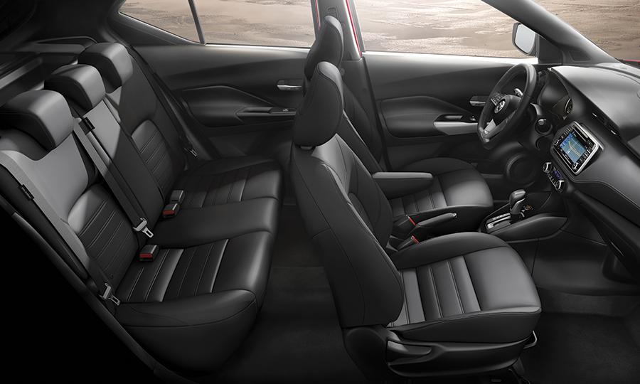 interior de la Nissan Kicks 2019