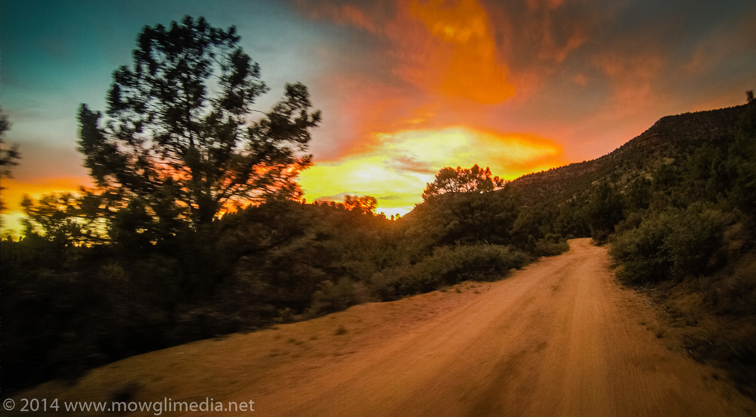 Another damn fine evening on the trail, somewhere between Payson and Pine