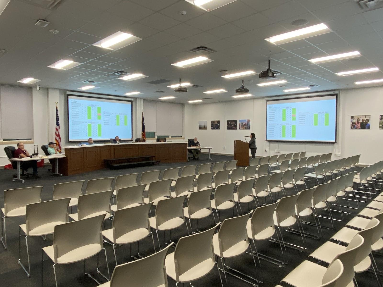 LISD Board meets in empty room