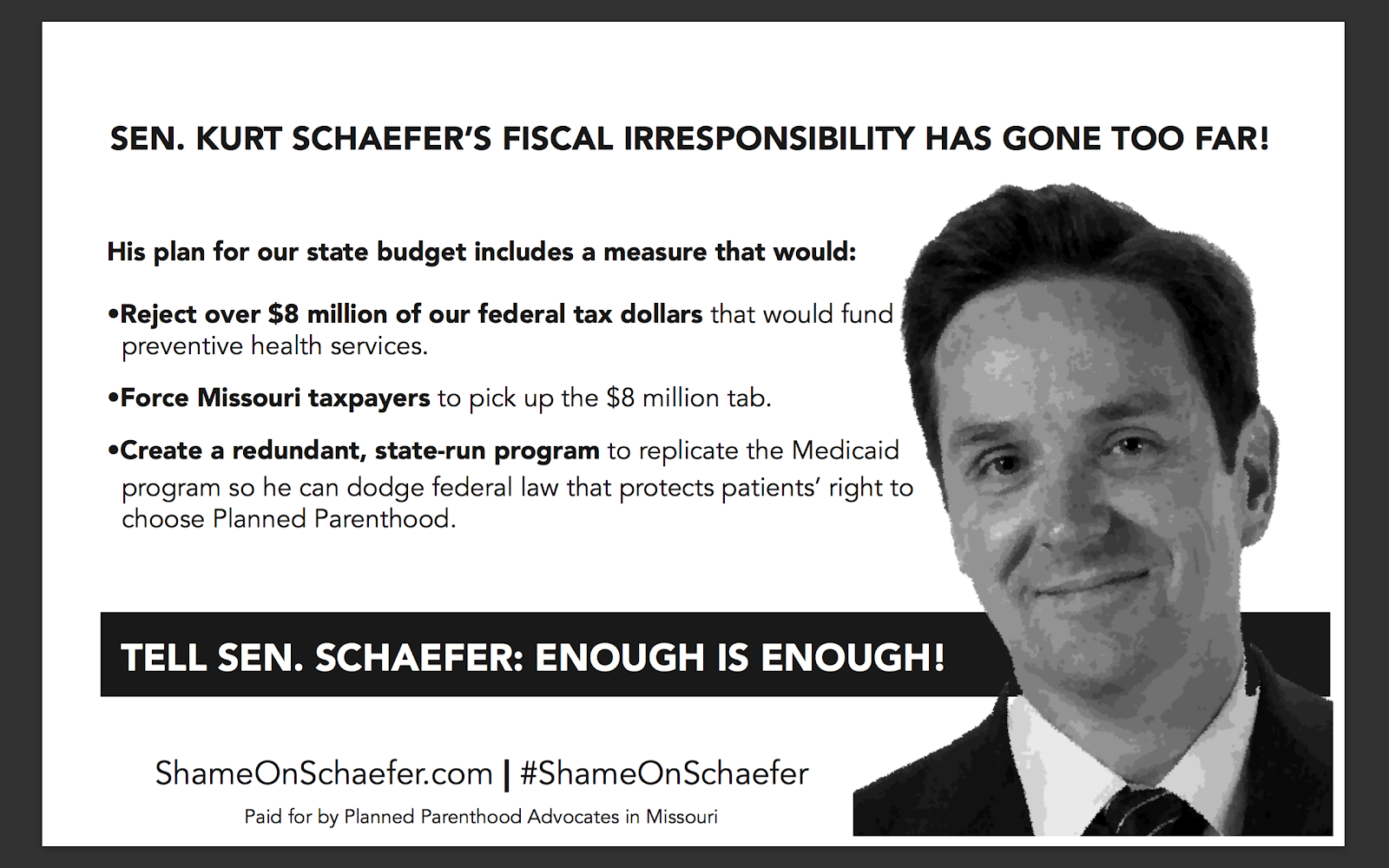 Shame on Schaefer Flyer.png