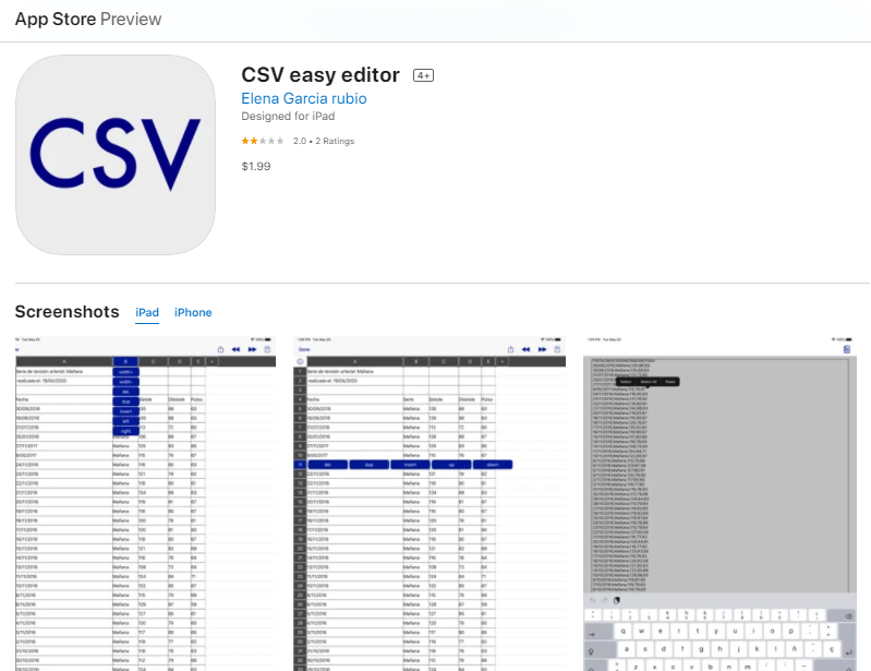 Aplicación Para Crear Cuadros Comparativos En iPhone