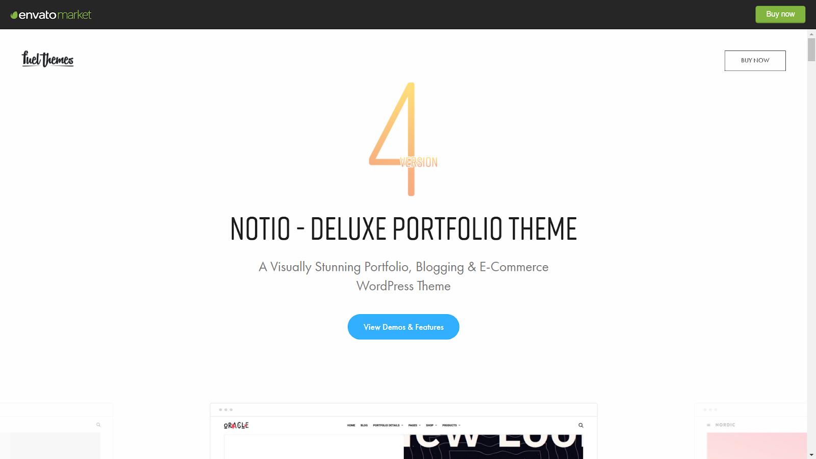 Notio Masonry WordPress Themes