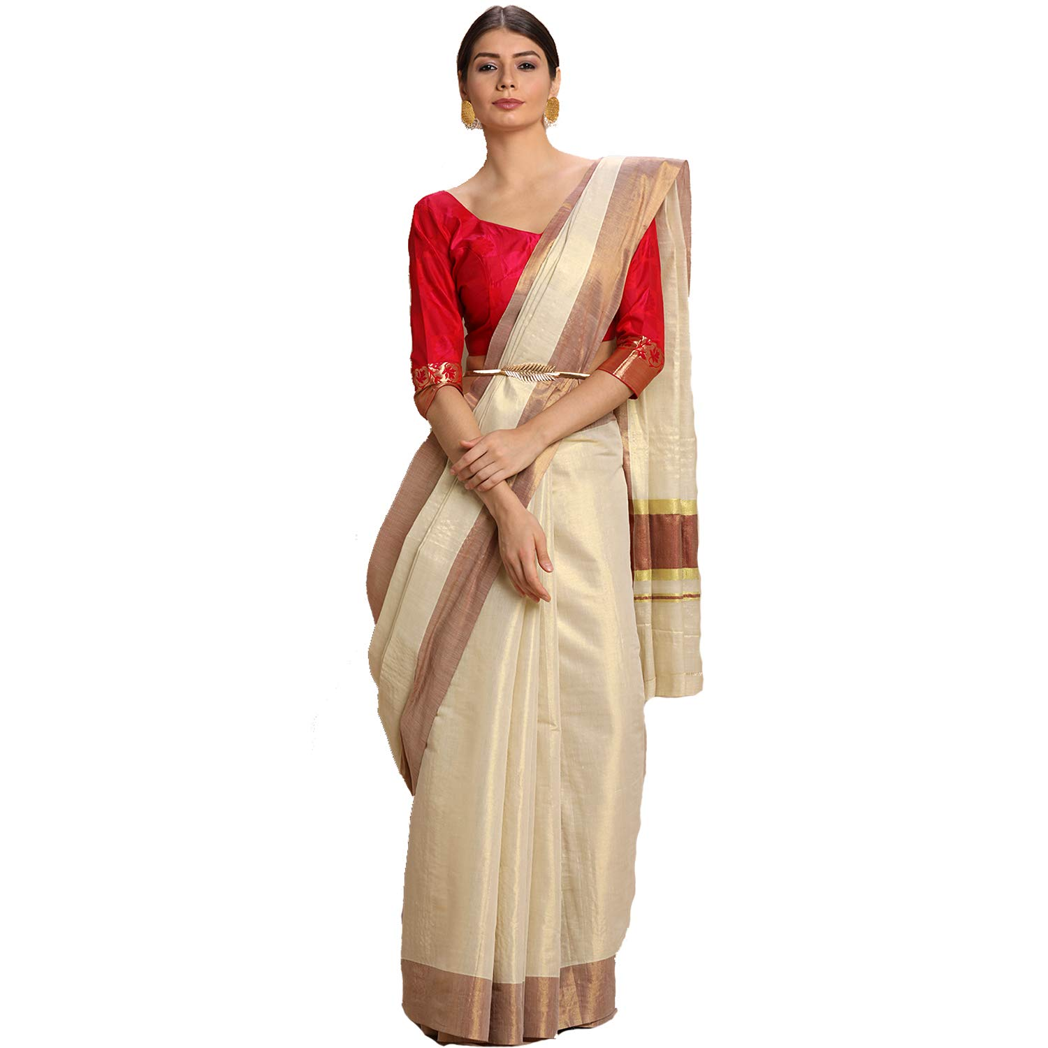 Tissue Body 3x3 Kerala Kasavu Saree
