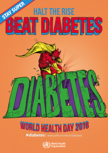 World Health Day 2016 poster: Halt the rise in diabetes
