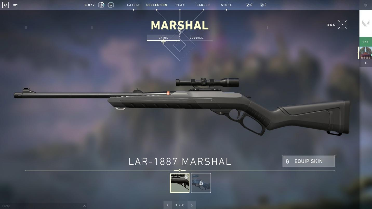 Marshal sniper top weapons in valorant
