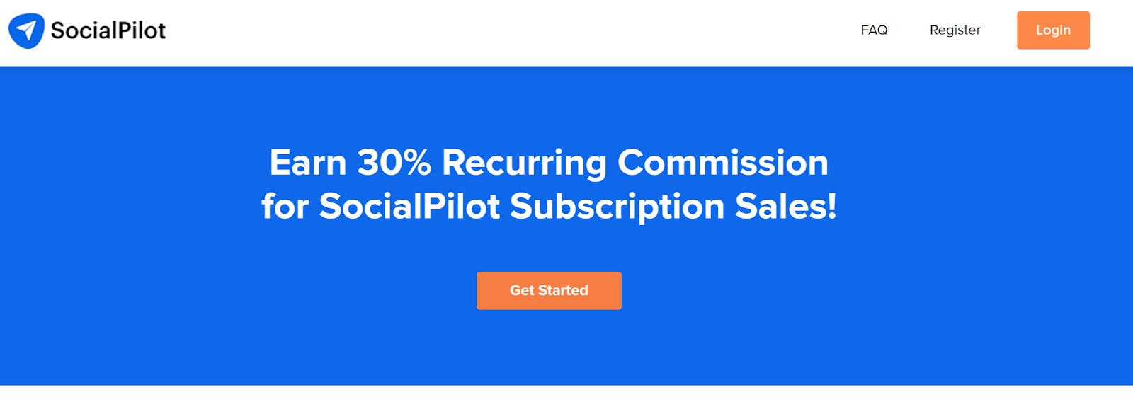 SocialPilot passive affiliate income program