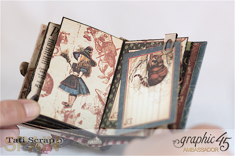 Tati, Hallowe'en in Wonderland - Deluxe Collector's Edition, Pop-Up Book, Product by Graphic 45, Photo 24
