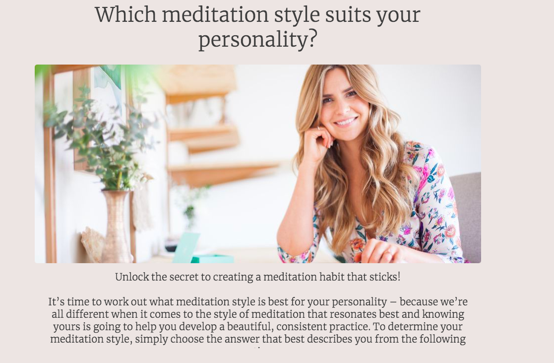 which meditation style suits your personality quiz cover