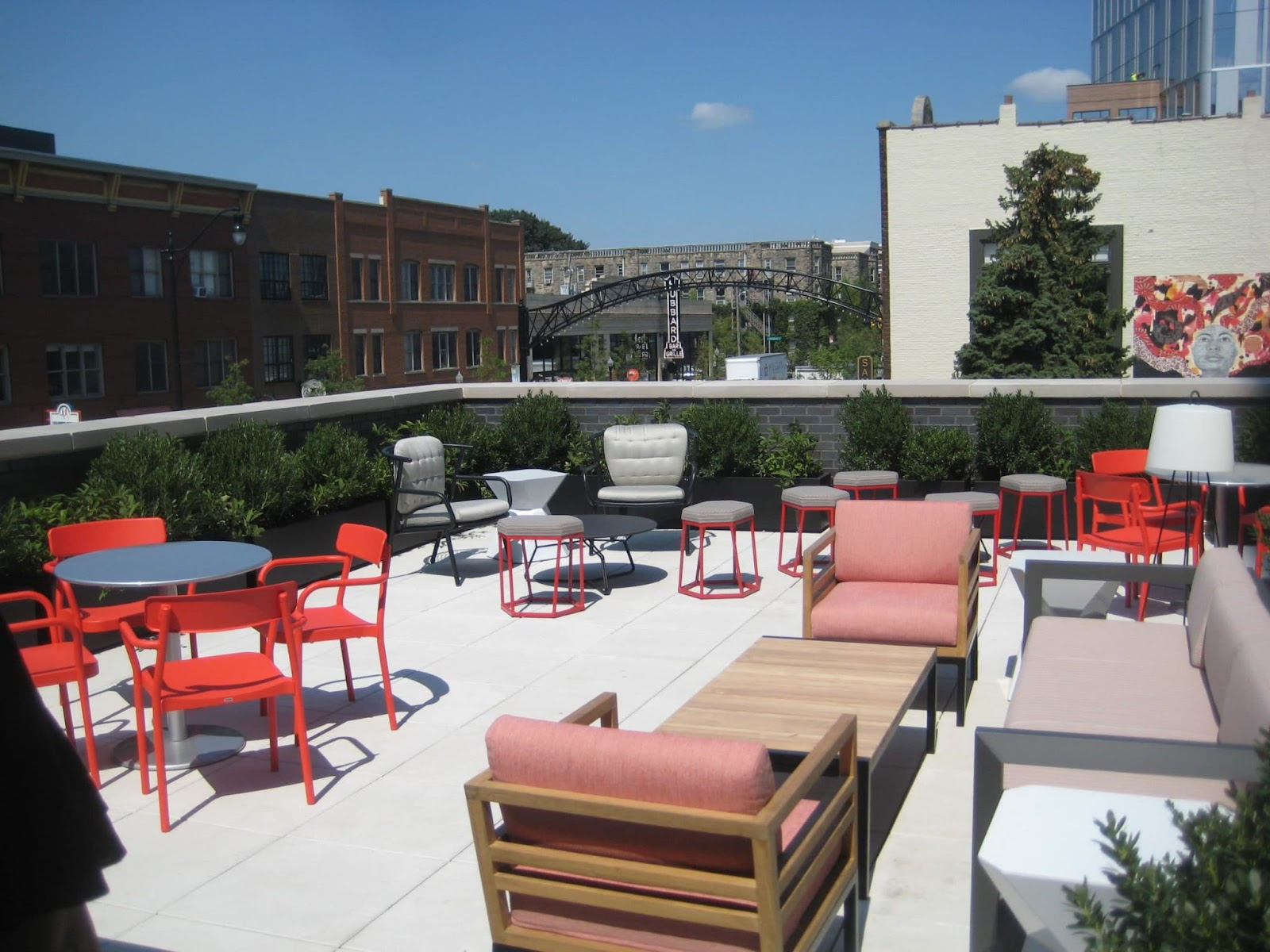 rooftop bar with chairs