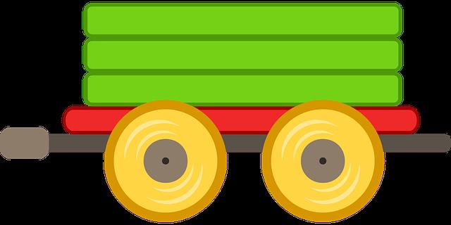 Train, Car, Toy, Green,