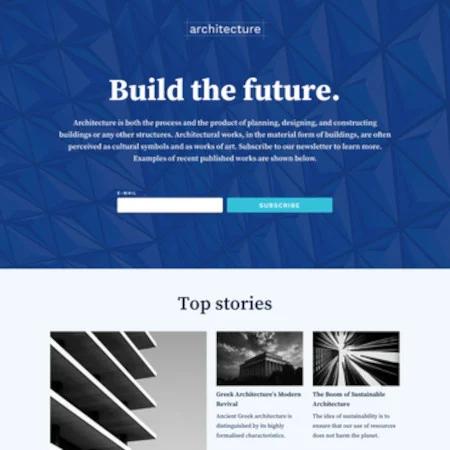 Mẫu miễn phí độc quyền của Hubspot - Architecture