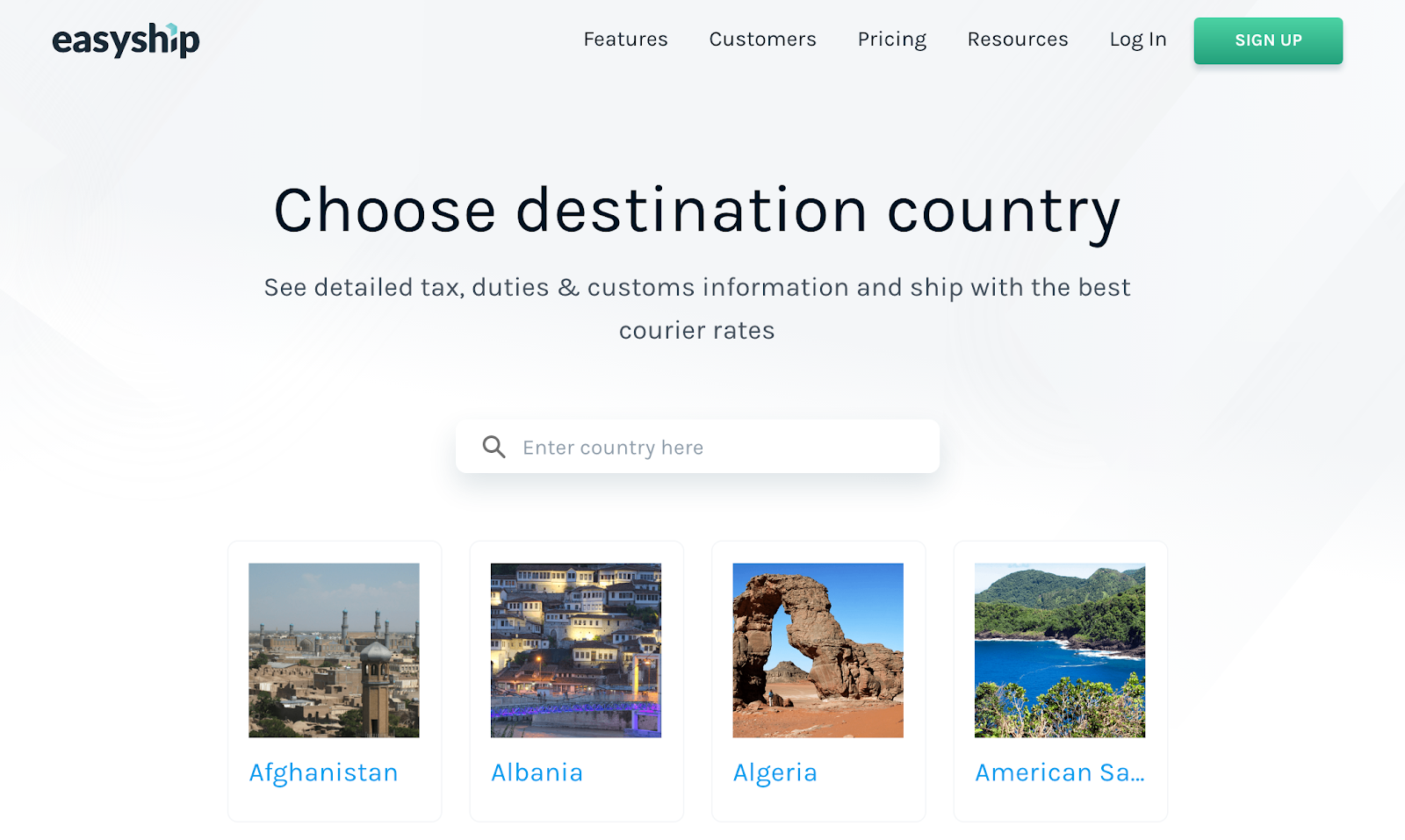 Easyship tax and import guide for all countries
