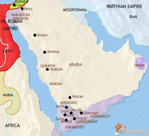 Map of Arabia at 200AD | TimeMaps